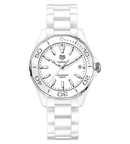 TAG HEUER WAY1391.BH0717 aquaracer ceramic watch (White