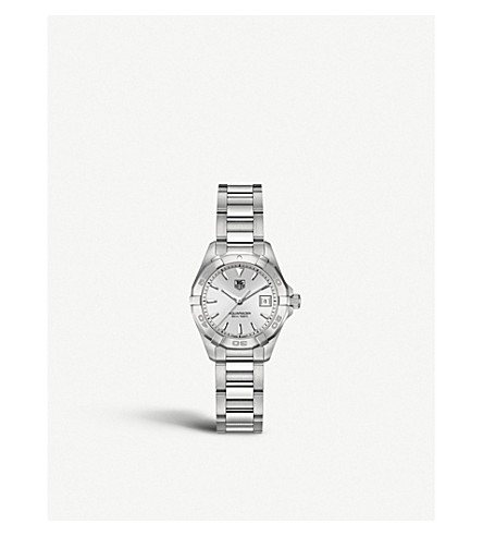 TAG HEUER WAY1411BA0920 Aquaracer polished steel watch (Silver