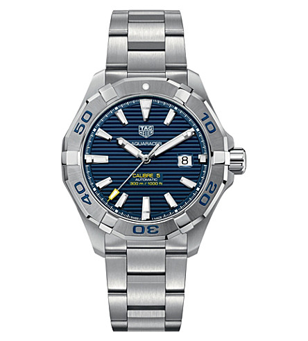 TAG HEUER Aquaracer stainless steel blue mens (Blue