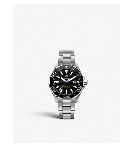 TAG HEUER WAY201ABA0927 aquaracer stainless steel watch (Black