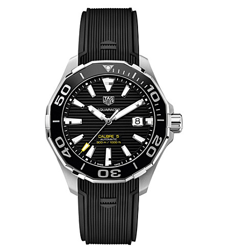 TAG HEUER WAY201AFT6069 aquaracer stainless steel black mens (Black