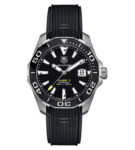 TAG HEUER WAY211AFT6068 aquaracer stainless steel watch (Black