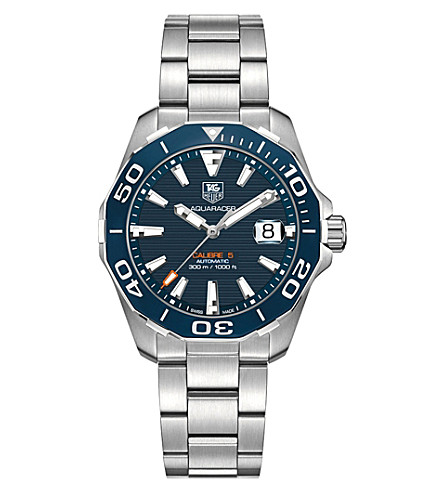 TAG HEUER WAY211CBA0928 aquaracer stainless steel watch (Blue