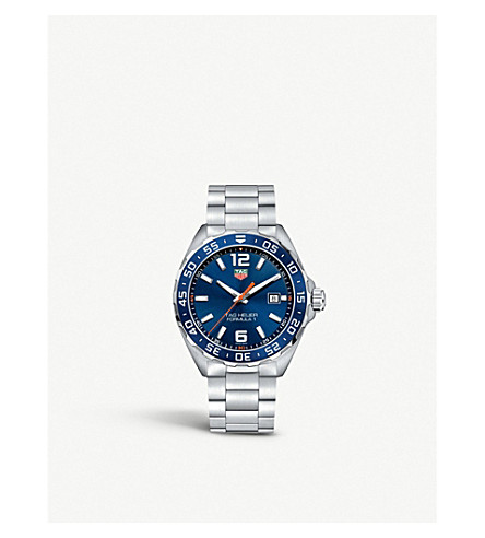 TAG HEUER WAZ1010BA0842 formula 1 stainless steel blue mens (Blue