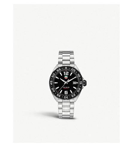TAG HEUER WAZ1110BA0875 式1不锈钢表 (黑色