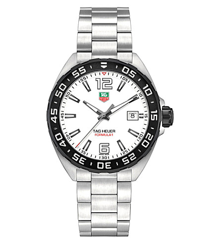 TAG HEUER WAZ1111BA0875 formula 1 stainless steel white gents (White