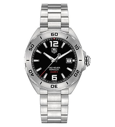 TAG HEUER WAZ2113.BA0875 Formula 1 polished steel watch (Black