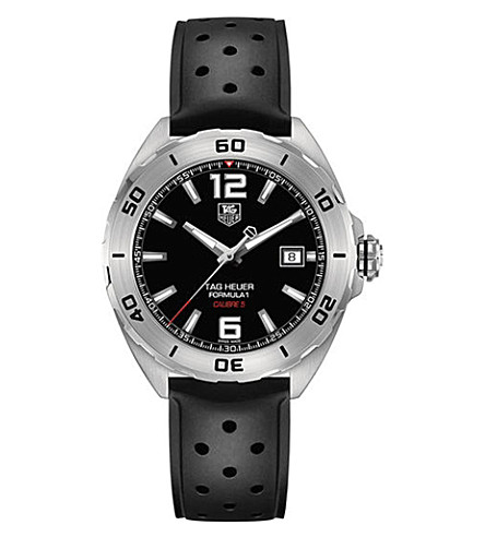 TAG HEUER WAZ2113.FT8023 Formula 1 polished steel watch (Black