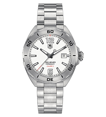 TAG HEUER WAZ2114.BA0875 Formula 1 polished steel watch (White