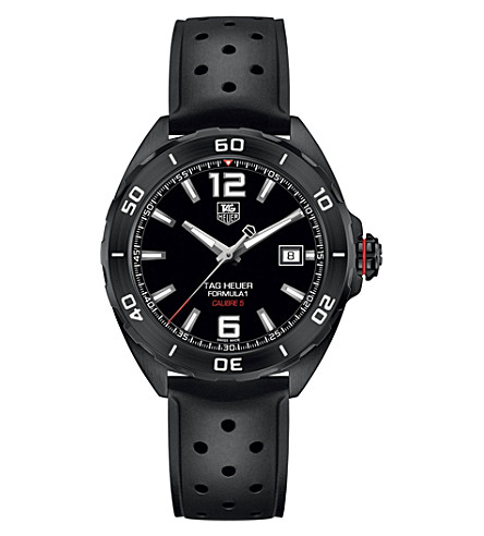 TAG HEUER WAZ2115.ft8023 Formula 1 titanium and rubber watch (Black