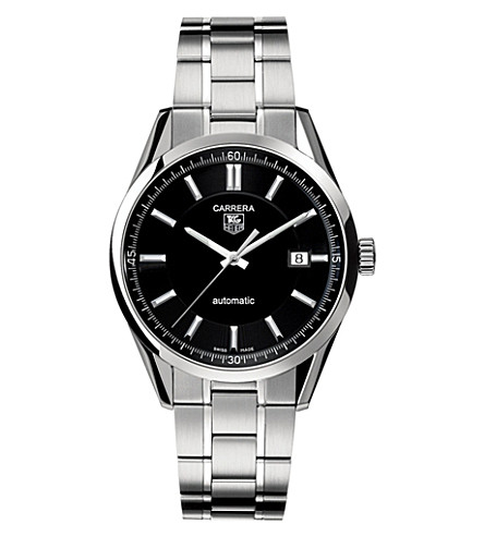 TAG HEUER Carrera calibre 5 automatic watch 39mm (Steel