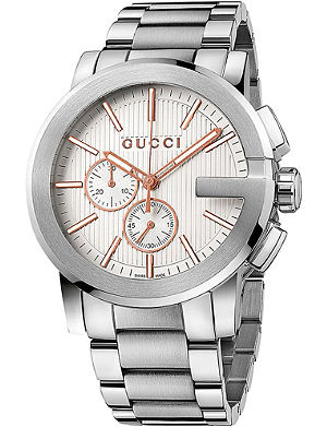GUCCI YA101201 G-Chrono stainless steel chronograph watch