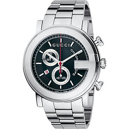 GUCCI G-chrono chronograph bracelet watch (Black