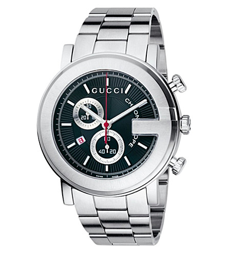 GUCCI YA101309 G-Chrono Collection stainless steel watch (Black