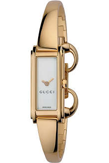 GUCCI YA109525 G Class gold-plated bracelet watch