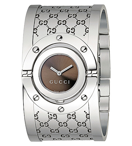 GUCCI YA112401 Twirl Collection stainless steel watch (Brown