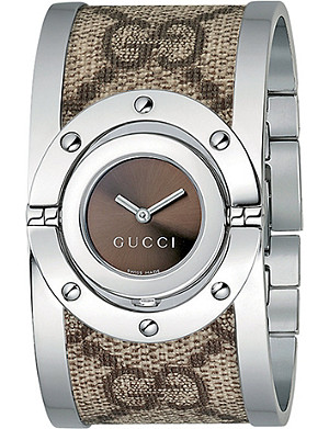 GUCCI YA112425 large stainless steel Twirl watch