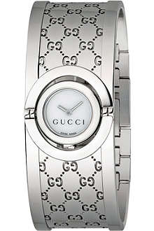 GUCCI YA112510 stainless steel bracelet watch