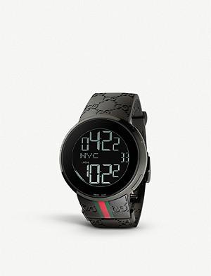 GUCCI YA114207 I-Gucci Collection rubber watch