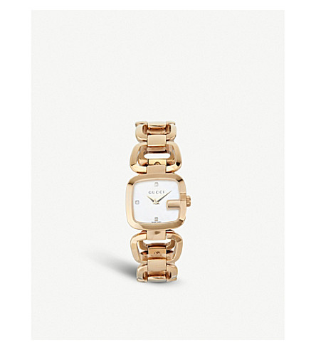 GUCCI YA125513 G-Gucci Collection yellow-gold PVD watch (Pearl