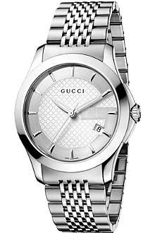 GUCCI YA126401 G-Timeless stainless steel watch