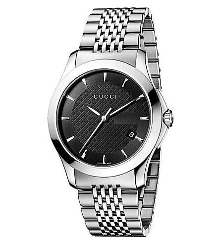 GUCCI YA126402 G-Timeless Collection stainless steel watch (Black