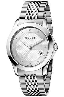 GUCCI YA126404 G-Timeless Collection stainless steel watch