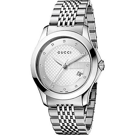 GUCCI YA126404 G-Timeless Collection stainless steel watch (Silver