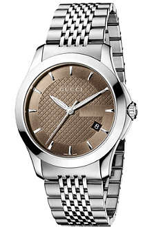 GUCCI YA126406 G-Timeless Collection stainless steel watch