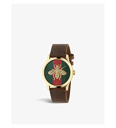 GUCCI YA126451 G Timeless gold-plated stainless steel watch (Mixed