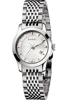 GUCCI YA126501 G-Timeless small stainless steel watch