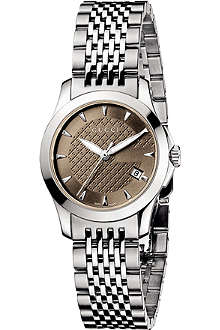 GUCCI YA126503 G-Timeless small stainless steel watch