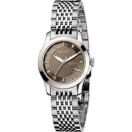 GUCCI YA126503 G-Timeless small stainless steel watch (Steel