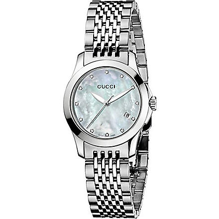 GUCCI YA126504 G-Timeless quartz watch (Mother-of-pearl