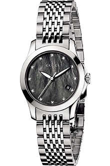 GUCCI YA126505 G-Timeless Collection stainless steel and diamond watch
