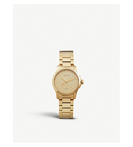 GUCCI YA126553 G Timeless gold-plated stainless steel watch (Gold