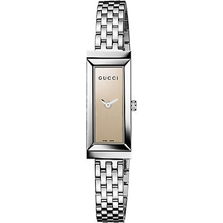 GUCCI YA127501 G-Frame stainless steel watch (Brown