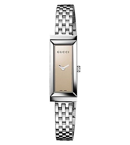 GUCCI YA127501 G-Frame Collection stainless steel watch (Brown
