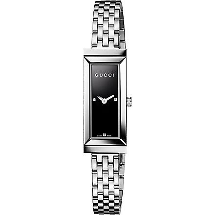 GUCCI YA127504 G-frame Collection stainless steel watch (Black
