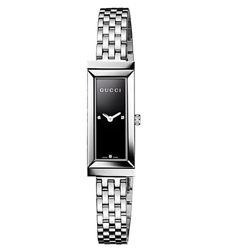 GUCCI YA127504 G-Frame stainless steel watch (Black