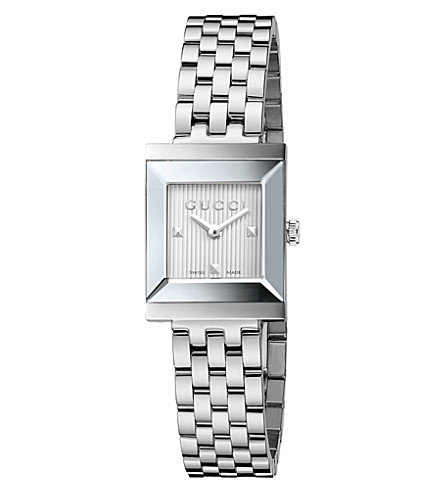 GUCCI YA128402 G-Frame collection stainless steel watch