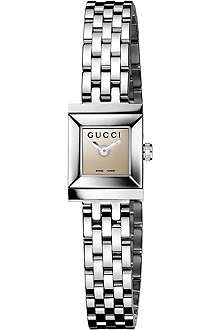 GUCCI YA128501 G-Frame Collection stainless steel watch