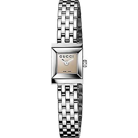 GUCCI YA128501 G-Frame Collection stainless steel watch (Brown