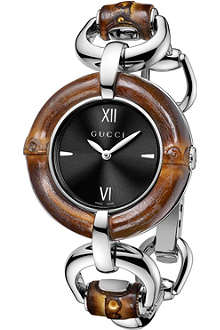 GUCCI YA132401 Bamboo Collection stainless steel watch