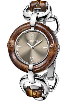 GUCCI YA132402 Bamboo Collection stainless steel watch