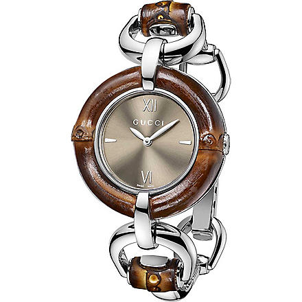 GUCCI YA132402 Bamboo Collection stainless steel watch (Brown