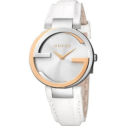GUCCI YA133303 Interlocking-G 18ct gold and stainless steel watch