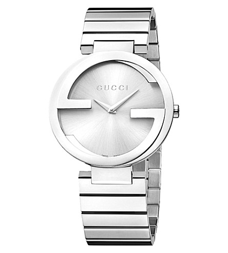 GUCCI YA133308 Interlocking-G Collection stainless steel watch