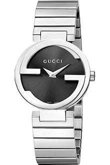 GUCCI YA133502 Interlocking-G Collection stainless steel watch