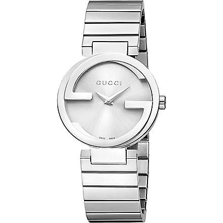 GUCCI YA133503 Interlocking-G stainless steel watch